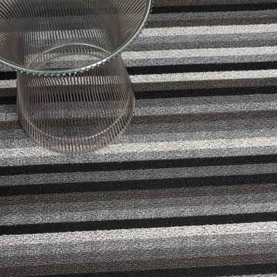 Shag Even Stripe Doormat Rug Size: 24 x 36, Color: Mineral