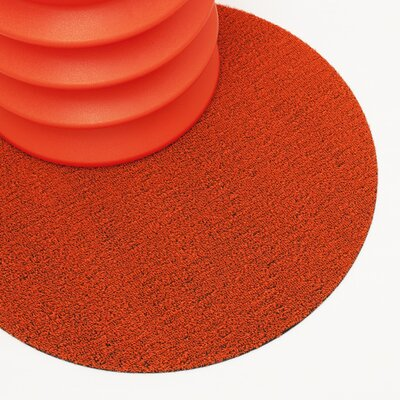 Shag Dot Doormat Color: Orange