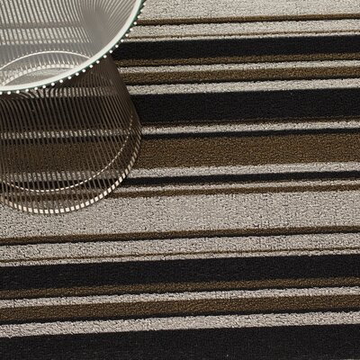 Luxe Striped Doormat Mat Size: Runner 2 x 62, Color: Oak