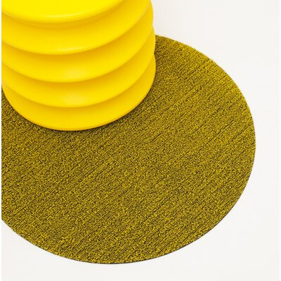 Shag Dot Doormat Color: Citron