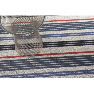 Mixed Stripe Shag Doormat Rug Size: 16 x 26