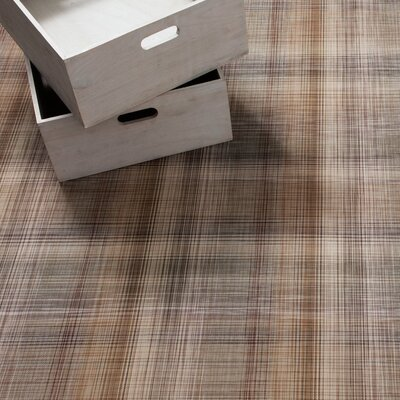 LTX Plaid Mat Color: Tan, Rug Size: Runner 26 x 810