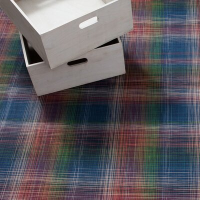 LTX Plaid Mat Color: Red/Blue/Green, Rug Size: Runner 26 x 810