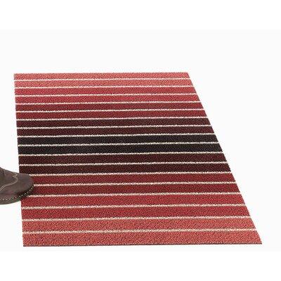 Block Stripe Shag Mat Mat Size: 2 x 3
