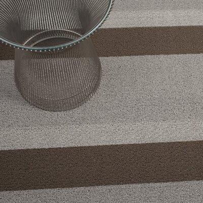 Bold Stripe Shag Doormat Mat Size: 16 x 24, Color: Ash