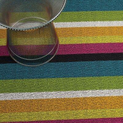 Bold Stripe Shag Doormat Mat Size: 2 x 3, Color: Multi