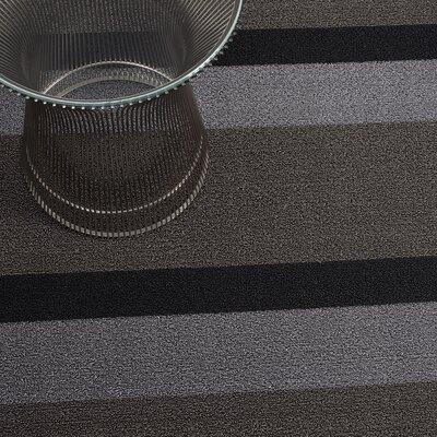 Bold Stripe Shag Doormat Mat Size: 16 x 24, Color: Silver & Black