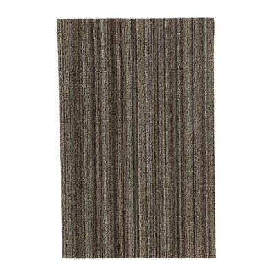 Skinny Stripe Shag Doormat Mat Size: Rectangle 2 x 3, Color: Mushroom