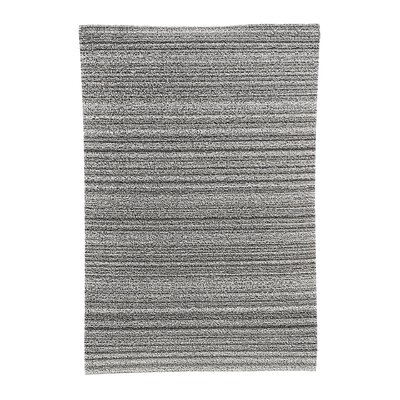 Skinny Stripe Shag Doormat Rug Size: 18 x 28, Color: Latte