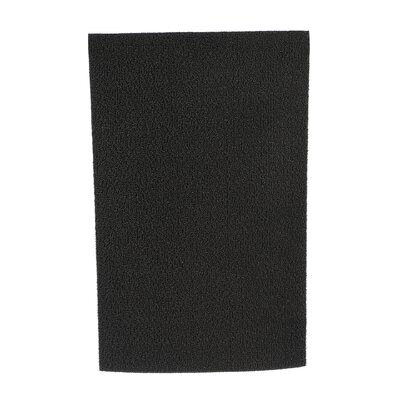 Shag Solid Doormat Mat Size: Rectangle 24 x 72, Color: Solid Black