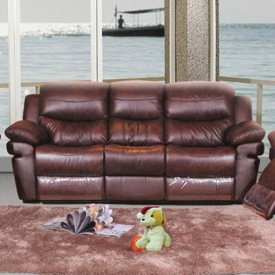 3331-3R PLKH1000 E-Motion Furniture Mt. Adams Leather Reclining Sofa