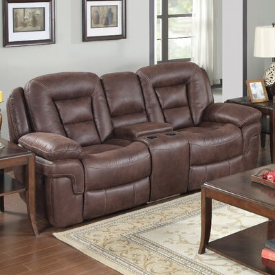 3601-2CR PLKH1075 E-Motion Furniture Atlas Leather Reclining Loveseat
