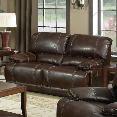 3350-2R PLKH1007 E-Motion Furniture Mt. Hood Leather Reclining Loveseat