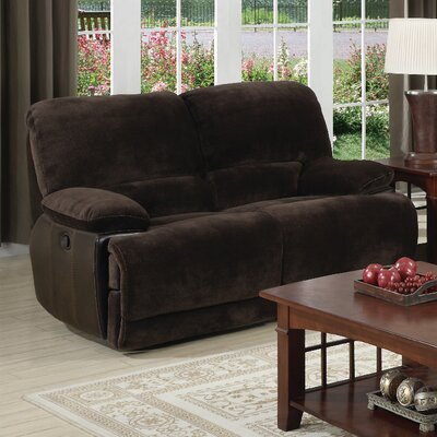 Nathan Leather Reclining Loveseat