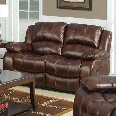 3400-2R PLKH1023 E-Motion Furniture Mt. Washington Leather Reclining Loveseat