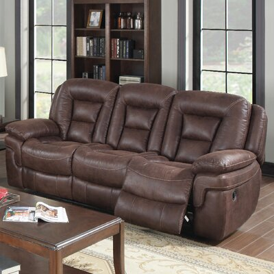 3601-3R PLKH1083 E-Motion Furniture Atlas Leather Reclining Sofa