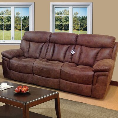 3570-3R PLKH1053 E-Motion Furniture Sierra Leather Reclining Sofa