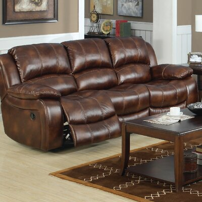 3400-3R PLKH1022 E-Motion Furniture Mt. Washington Leather Reclining Sofa