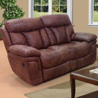 3570-2R PLKH1054 E-Motion Furniture Sierra Leather Reclining Loveseat