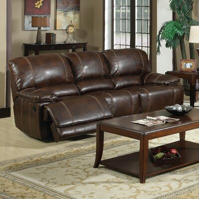3350-3R PLKH1006 E-Motion Furniture Mt. Hood Leather Reclining Sofa