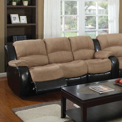 Asher Reclining Sofa Upholstery: Moca/Cappuccino