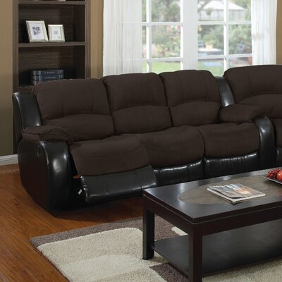 3154-3R PLKH1067 E-Motion Furniture Mt. Rainier Reclining Sofa