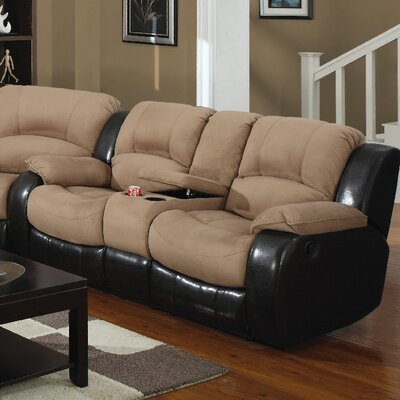 Asher Reclining Loveseat Upholstery: Moca/Cappuccino