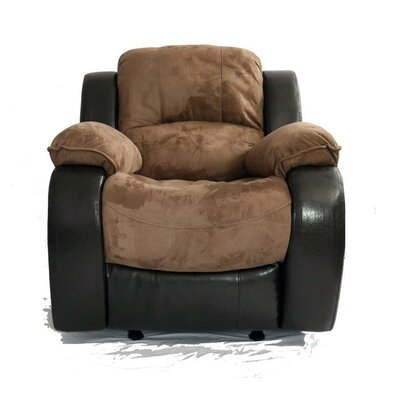 Asher Power Glider Recliner Upholstery: Moca/Cappuccino