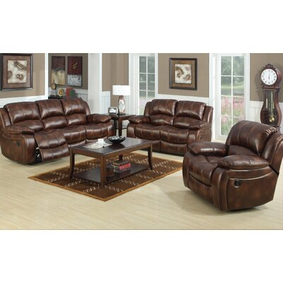 Bryden Leather Reclining Loveseat