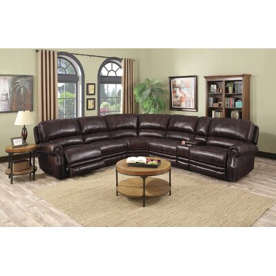Justin Leather Reclining Sectional