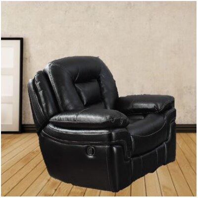 Dominic Glider Recliner Upholstery: Black