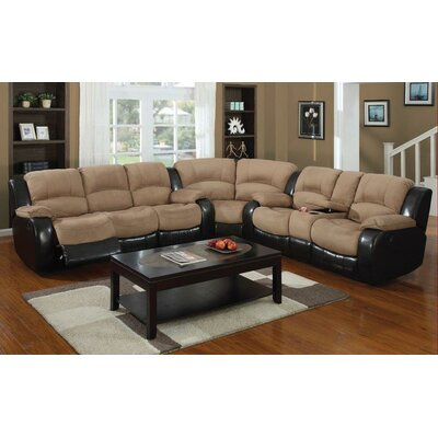 Asher Reclining Sectional Upholstery: Moca/Cappuccino