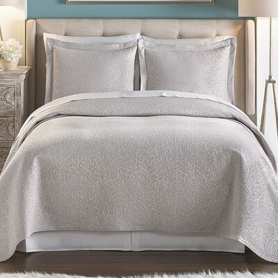 Villa Vita 3 Piece Coverlet Set Color: Taupe, Size: Full/Queen