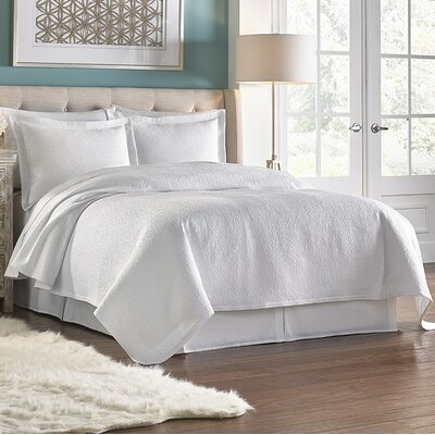 Villa Vita 3 Piece Coverlet Set Color: White, Size: King