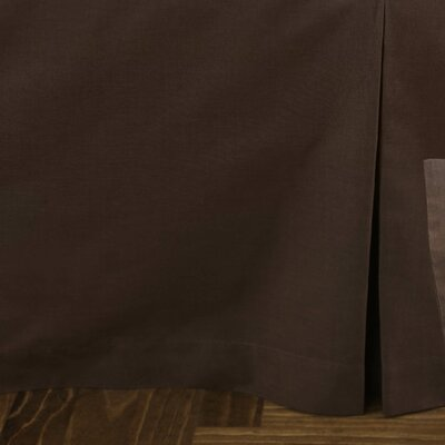 Tailored Cotton Bed Skirt Size: Queen
