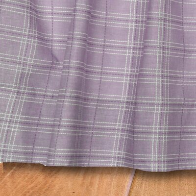 Lavender Rose Gathered Plaid Quilted Cotton Bed Skirt Size: King
