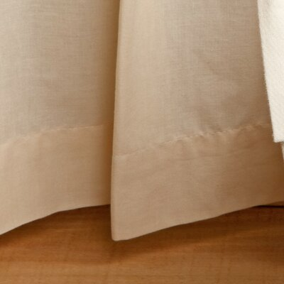 Gathered Cotton Bed Skirt Size: King