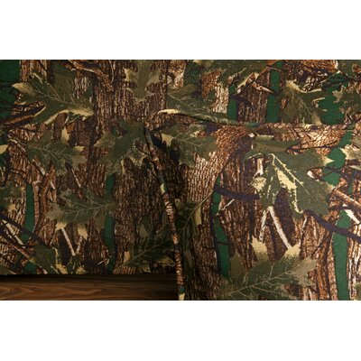Camouflage 140 Thread Count Bed Skirt Size: King