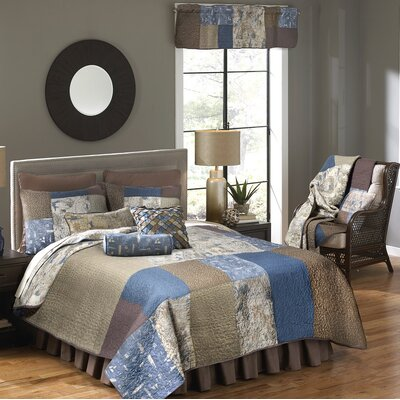 Nautical Square 120 Thread Count Box Pleat Bed Skirt Size: Twin