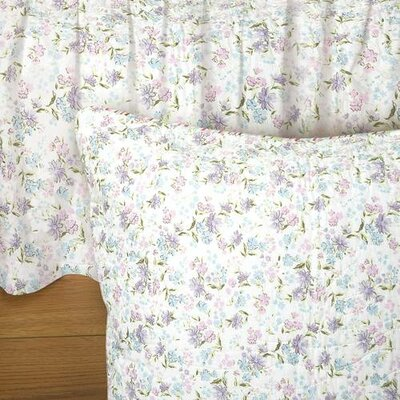 Belves Lily Floral 135 Thread Count Platform Bed Skirt Size: King