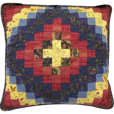 Whitworth Patched 100% Cotton Throw Pillow
