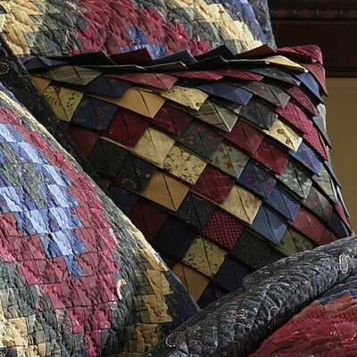 Whitworth Rooftile 100% Cotton Throw Pillow