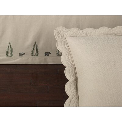 Nelms 145 Thread Count Fitted Bed Skirt Size: Queen