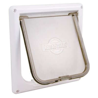 6.56 x 6.81 Small White Cat Flap Pet Door