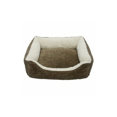 Carlene Luxury Lounge Pet Bed Size: Small - 22 L x 19 W, Color: Dark Moss