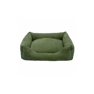 Luxury Swaddlez Bolster Pet Bed Color: Moss, Size: Medium - 27 L x 22 W