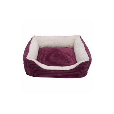 Carlene Luxury Lounge Pet Bed Size: X-Large- 36x 30x 8, Color: Imperial Purple