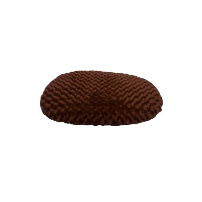 Luxury Swirl Fur Pet Bed/Pillow Color: Brown, Size: 45 L x 25 W