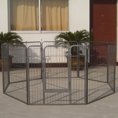 Rhea Heavy Duty Metal Tube Exercise & Training Dog Pen Size: 24 H x 85 W x 85 L