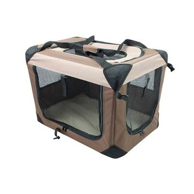 Catalina Multipurpose Pet Soft Crate with Fleece Mat Size: Large (25 H x 25 W x 36 L)